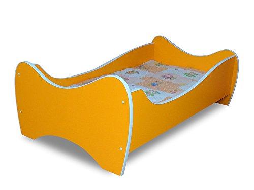 Lit enfant oranges+sommier+matelas 160x80 cm