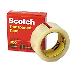 Scotch Premium Transparent Film Tape 600 Clear, 2 Inches x 72 Yards