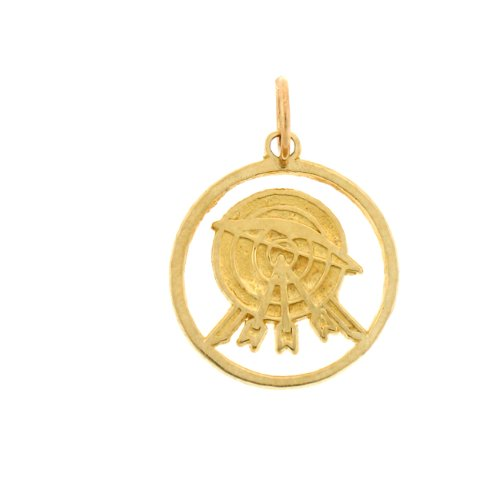 14kt Yellow Gold Archery Pendant