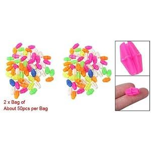 2 Bag Colorful Plastic Clip Spoke Bead Bicycle Decor for Kid Bike