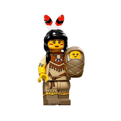 LEGO-Minifigures-Series-15-Tribal-Woman-Minifigure-With-Baby-Loose