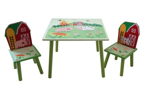 FARM KIDS MULTI TABLE AND 2 CHAIRS * BRAND NEW *