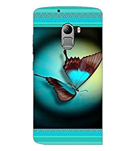 PrintDhaba Butterfly D-4644 Back Case Cover for LENOVO K4 NOTE A7010 (Multi-Coloured)