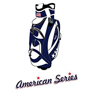 "Spin It Golf Products American Series ""Easy Play"" Golf Cart Bag, Blue/White"