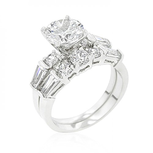 Engagement Set With Large Center Stone