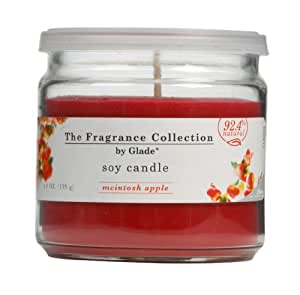 Glade The Fragrance Collection Soy Candle, Mcintosh Apple, 4.9-Ounce Jars (Pack of 6)
