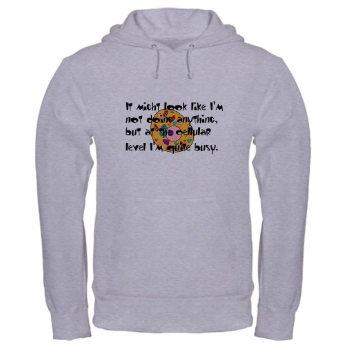 Cellular Activity Hoody Hooded Sweatshirt by CafePress – L Heather Grey