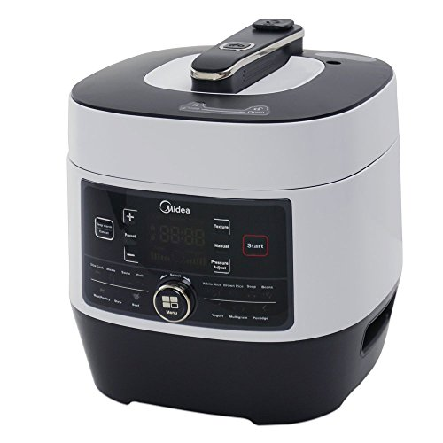 Midea MY-SS6062 Power 8-in-1 Multi-Functional Programmable Pressure Cooker, 6Qt/1000W Stainless Steel (Electric Pressure Fryer compare prices)