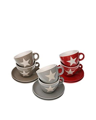 Zings Teetasse mit Untertasse 12 tlg. Set