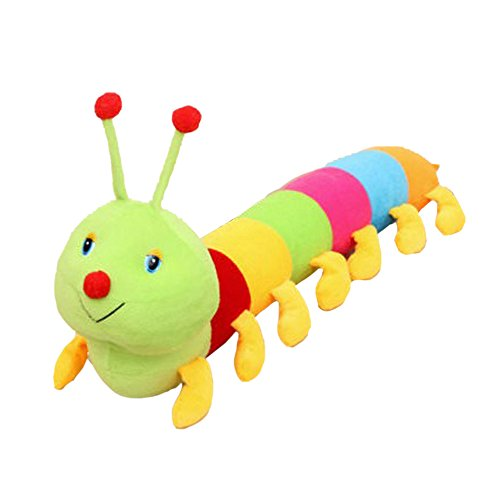 Eonkoo Lovely vivid Colorful Inchworm Plush Toy For Boy Girs Birthday Gif,Soft Safety Stuffed Doll Toys for Baby Kids
