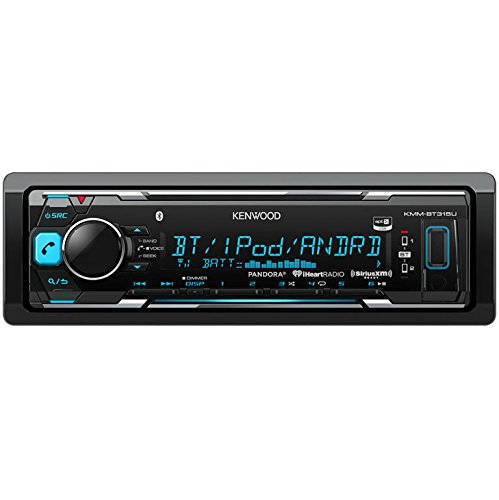 Kenwood KMMBT315U Digital Media Receiver with Built-In Bluetooth (Black) (Kenwood Car Stereos compare prices)
