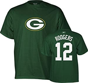 Aaron Rodgers Green Bay Packers Green Player T-Shirt