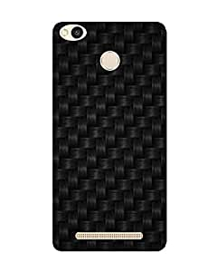 GripIt Thick Black Weaved Printed Case for Xiaomi Redmi 3S Prime