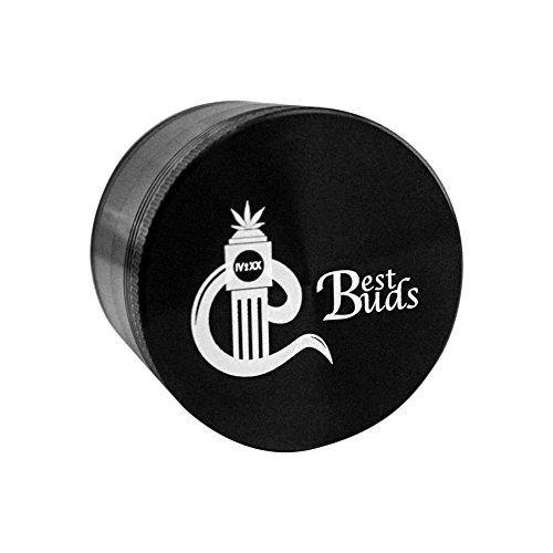 Best-Buds-Weed-Grinders-Tobacco-Spice-Herb-Grinder-with-Cool-Design-4pc-Marijuana-Grinder-with-Pollen-Kief-Catcher-Kief-Scraper-Cleaning-Guide-Included