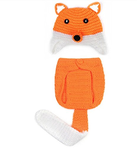 Baby Boy And Girls Cute Fox Style Hat And Underwear Two Piece Set front-160636