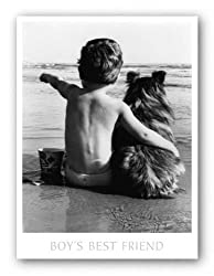 "Boy's Best Friend by Anonymous 24""x18"" Art Print Poster"