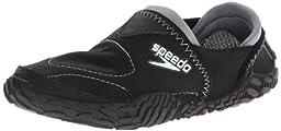 Speedo Women\'s Offshore Amphibious Pull-On Water Shoe,Black,9 M US
