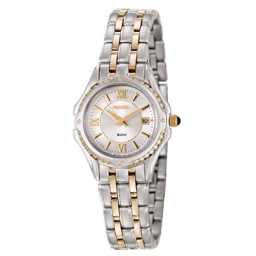 Seiko Women's SXDC36 Two-Tone Le Grand Sport White Dial Watch
