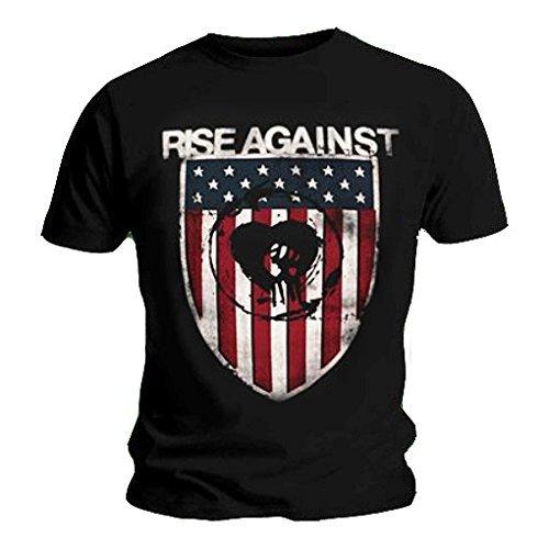 Maglietta ufficiale-RISE AGAINST Heart, Fist-Skin protettiva Logo tutte le misure nero XX-Large