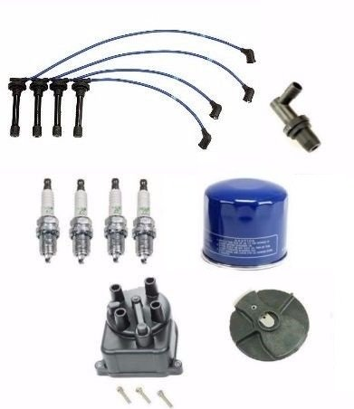 Tune Up Kit Filters, Cap, Rotor, Wires & NGK Plugs Honda Civic LX 1.5 D15B7 (D15b7 Spark Plug Wires compare prices)