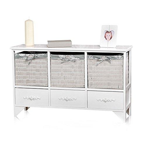 korbm bel in wei romantische rattan m bel f r den landhausstil. Black Bedroom Furniture Sets. Home Design Ideas