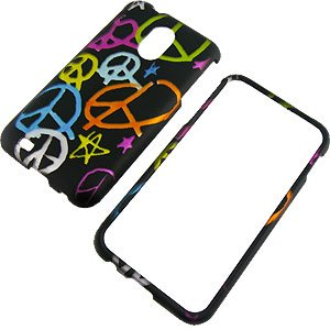 Handy Colorful Peace Signs Black Protector Case