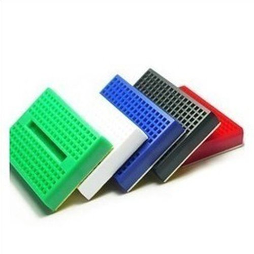 Hobbypower Mini Solderless Prototype Breadboard 170 Tie-points for Arduino Shield(pack of 10 Pcs) - 1