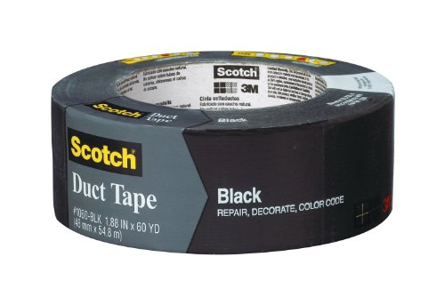 Scotch Duct Tape, Black, 1.88-Inch by 60-Yard