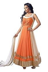 Kamakshi Womens Chiffon Self Print Anarkali Salwar Suit (Vodafone_Xxl)