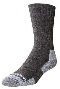 Wells Lamont 9332LN Men's Wool Crew Socks, 2-Pairs, Dark Grey, Shoe Size: 10 - 12 1/2