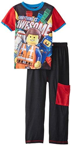 Lego Big Boys' Movie Awesome Pajama Set, Black/Red, 8