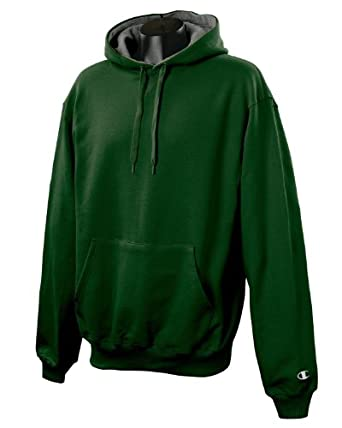 Champion S1781 90/10 Cotton Max Pullover Hood - Large - DARKGREEN/OXFORD
