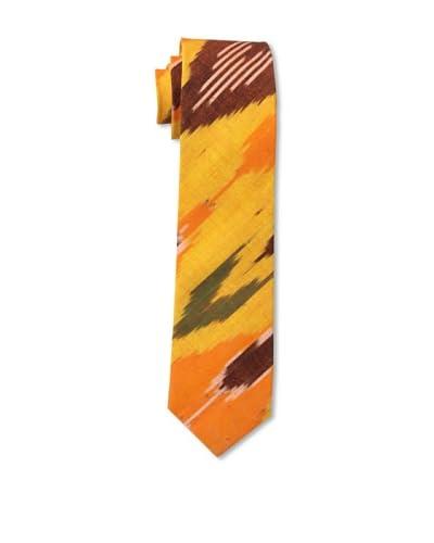 Gitman Men's Multi Print Tie, Orange