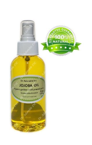 Jojoba Oil Great For Skin Hair Face & Nails Lips Cuticles Stretch Marks Beard Comes With A Sprayer 4 Oz front-968069