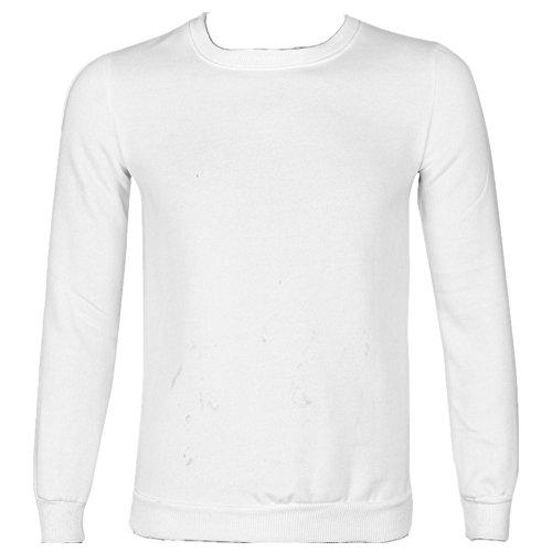 Anglewolf Amanti A Maniche Lunghe T-shirt Camicetta Superiore (L, Uomo Bianco)