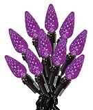 "Sylvania Led C6 Light Set Purple 3"" Spacing 3"""