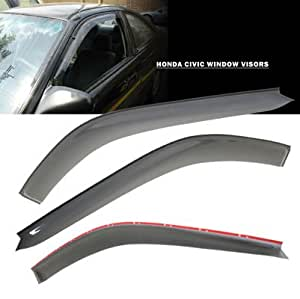 96 00 honda civic 2dr window shade vent visors for 1997 honda civic window handle