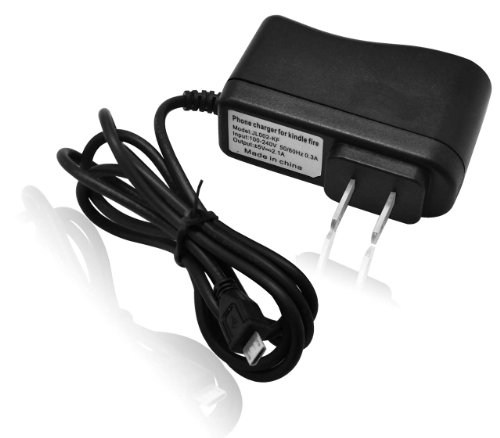 CrazyOnDigital Wall Charger AC Adapter fits Amazon Kindle Fire Tablet (Black)