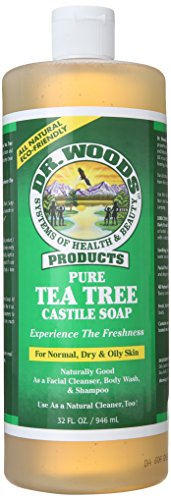 Dr. Woods Pure Castile Soap, Tea Tree, 32 Ounce