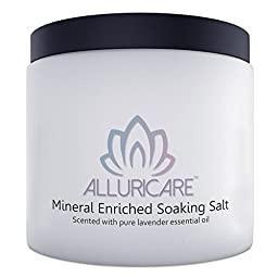 Alluricare Mineral Enriched Soaking Salts- Baby Yourself - An Eternity of Sunlight and Water in One Bath- Natural Great Salt Lake Minerals and Salts Relax and Soothe - Infused with Lavender Essential Oil to Aid With Sleeping - Less Expensive Than Dollar S