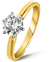 Beautiful 18 ct Gold Ladies Solitaire Engagement Diamond Ring Brilliant Cut 2.00 Carat JK-I3