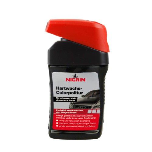 Nigrin 72944 Hartwachs-Colorpolitur Hard Wax Polish Black 300 ml