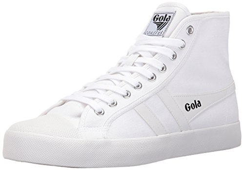 Gola Men's Coaster High Fashion Sneaker, White/White, 10 UK/11 M US