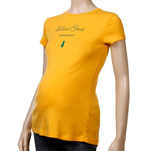 My U Oregon Ducks Ladies Yellow Future Fan Maternity T-shirt (Small)