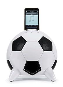 Speakal mi-Soccer 2.1 Stereo Speakers and Docking Station with 3 Speakers for iPod (Black/White)