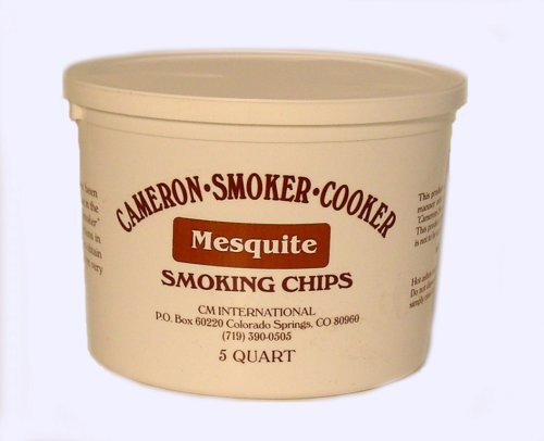 Wood Smoking Chips - 5 Quart Bucket of Mesquite Wood Chips (Fine) for Smokers - 100% Natural