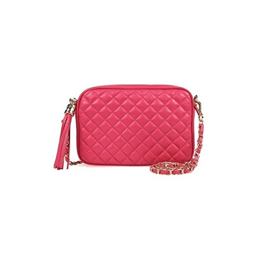 dearwyw-women-genuine-cow-leather-mini-waffle-quilted-square-cross-body-shoulder-bag-pink