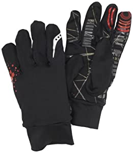 Saucony Men's Ultimate Run Glove, X-Large, Black