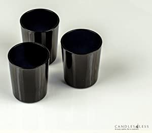 72 pieces black glass votive candle holders bulk black frosted candle holders. Black Bedroom Furniture Sets. Home Design Ideas