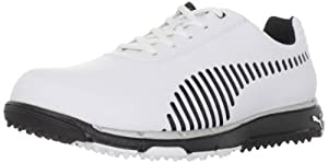 PUMA Men's Faas Grip Golf Shoe,White/Black,10.5 D US